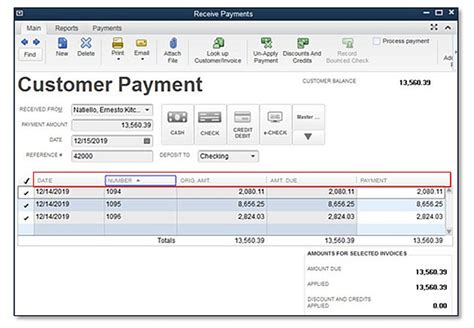 quickbooks tutorial receiving payments quickbooks 2016 feature minute new sort on columns