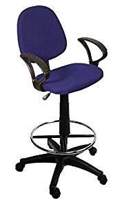 drafting chair with armrest blue drafting chair with 360 footrest
