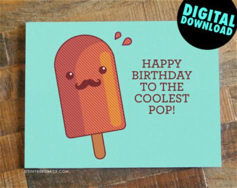 funny printable happy birthday dad cards pun card etsy