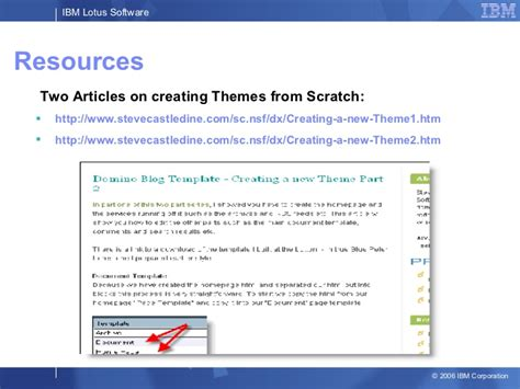 lotus notes blog template