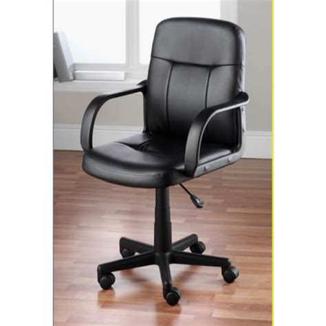 musgrove mid back desk chair hodedah black pu leather mid back office chair hi 1011