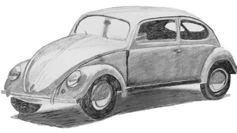 old volkswagen drawing original vw beetle drawing by catherine roberts