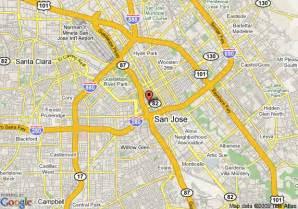 San Jose County Map by Map Of Crowne Plaza San Jose San Jose