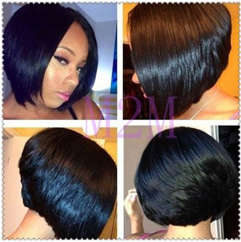 african american short bob hairstyles back of head 17 best ideas about feathered bob on pinterest black bob