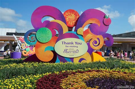 festival decorations 2014 epcot food and wine festival decor photo 2 of 9