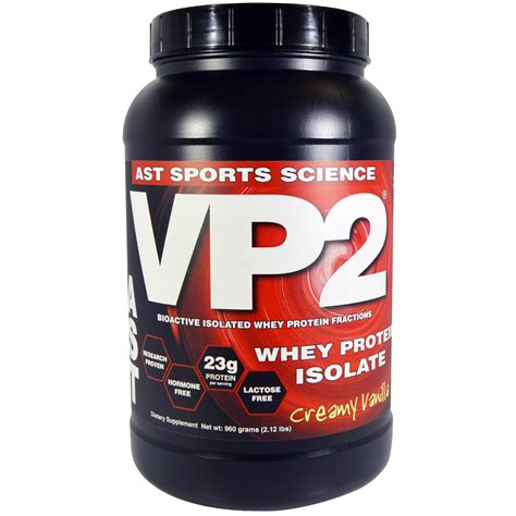 Whey Vp2 ast sports science vp2 whey protein isolate vanilla 2 12 lbs 960 g iherb