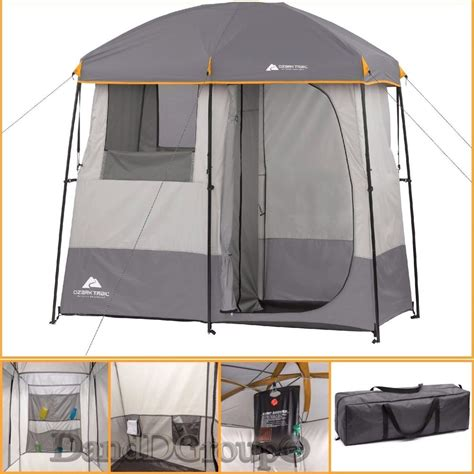 2 Room Shower Tent by Ozark Trail 2 Room Shower Tent Changing Shelter Outdoors