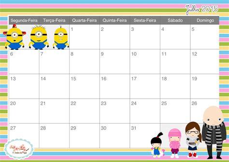 Calendario Julho 2015 Dicas De Matilda Calend 225 Julho 2015
