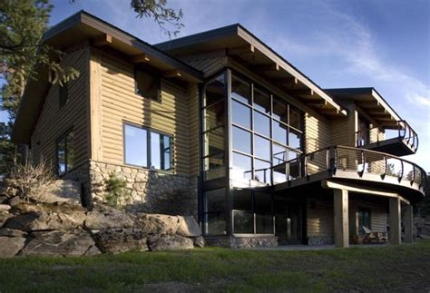 modern rustic home beautiful mountain home made quot modern quot with cable railings freshome