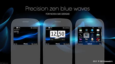 black theme for nokia c3 00 and x2 01 wb7themes precision zen blue waves theme c3 00 x2 01 asha 200 210