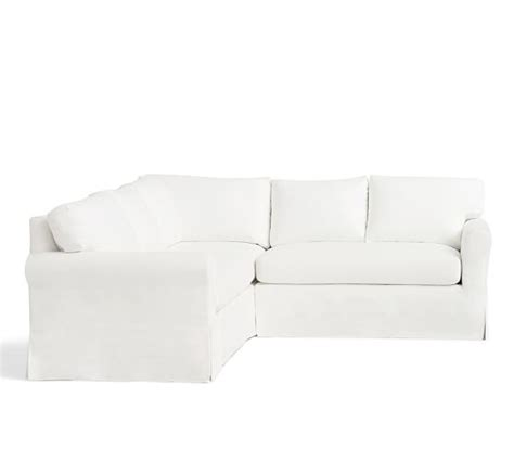 york roll arm slipcovered york roll arm slipcovered 3 piece l shaped sectional with