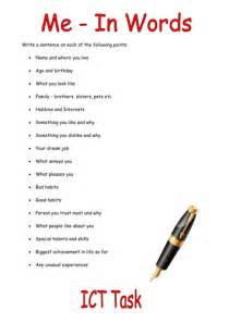 How To Write About Myself Essay by All About Myself Essay By Cerihartnell Teaching Resources Tes