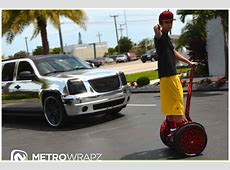 Austin Mahone Gets Chrome Segway Collection to Match Cars ... Range Rover Car Logo