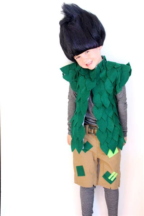 diy costumes dreamworks trolls costume diy no sew costume leaf vest