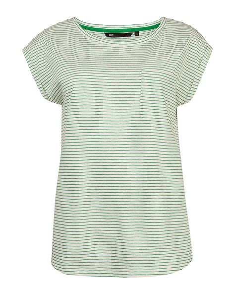 Stripe Neck T Shirt r neck stripe t shirt 79775953 we fashion