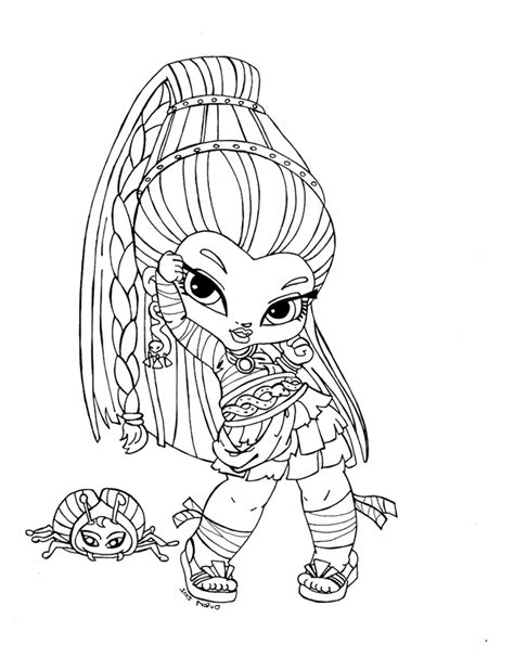 monster high coloring pages printerkids high color az dibujos para colorear