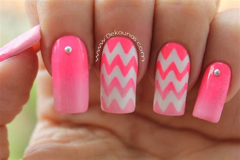 imagenes decoraciones de uas decoraci 243 n de u 241 as zig zag chevron nails youtube