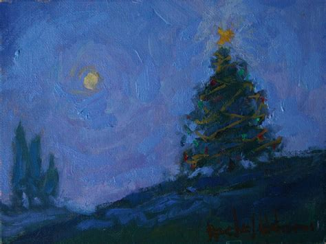 paintings by rachel uchizono christmas tree painting by