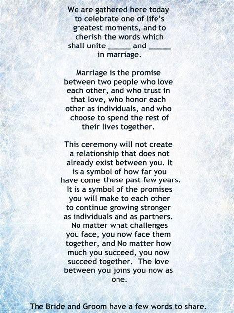 25  Best Ideas about Wedding Ceremony Script on Pinterest