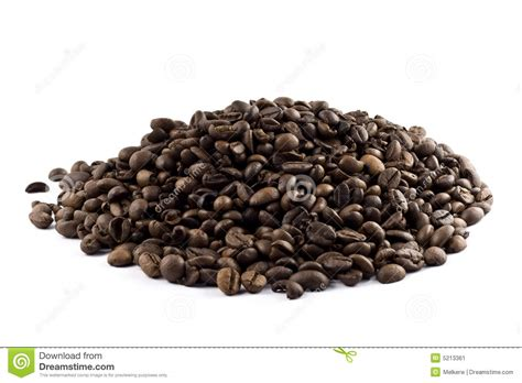 Nice Pile Of Coffee Beans Isolated Stock Image   Image: 5213361