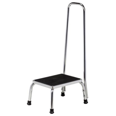 equipment step stool handrail clinton chrome step stool with handrail stools
