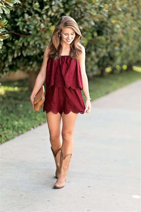 game day romper country outfits fashion style