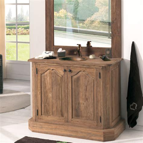 meuble salle de bain cocktail scandinave photo 14 20 vieux teck recycl 233 une seule vasque