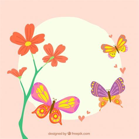 sfondi con fiori e farfalle sfondo carino con fiori e farfalle volano scaricare