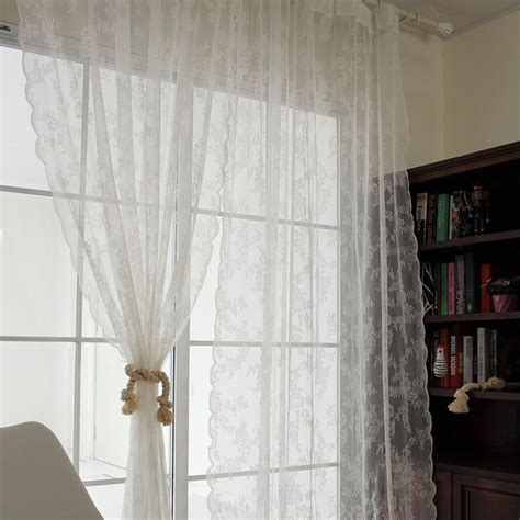 white curtains for girls room 2016 new american country pastoral embroidered bedroom the