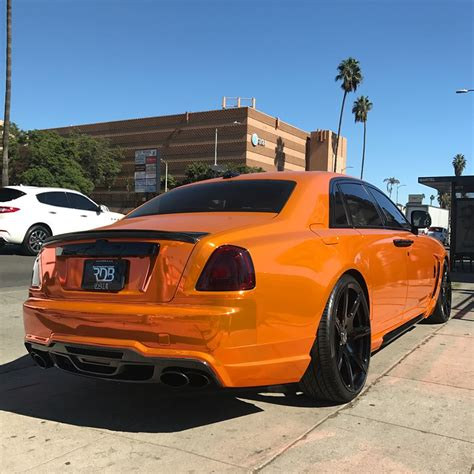 roll royce chrome chrome orange rolls royce ghost quot pumpkin quot is a screaming
