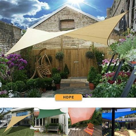 sun shade sail canopy fabric uv block patio yard top cover