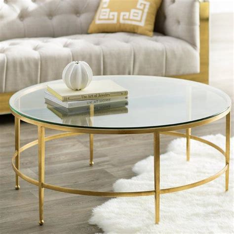 gold glass coffee table clara gold coffee table