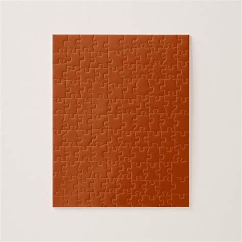 deep orange color autumn gold deep rust orange color only jigsaw puzzle zazzle