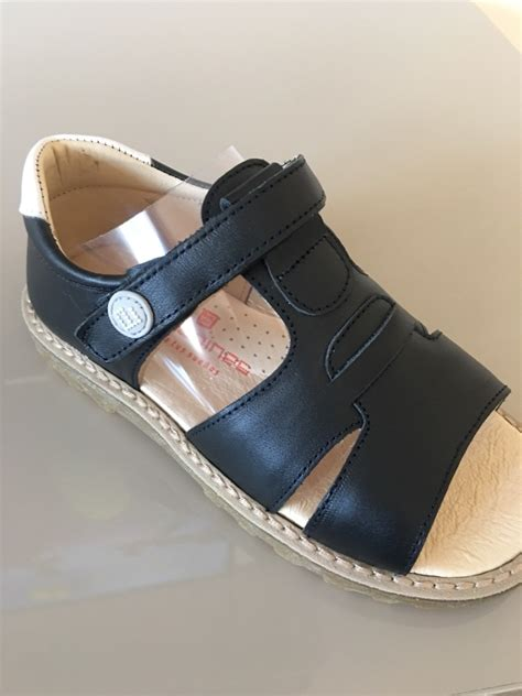 boys navy leather sandals boys andanines sandals navy leather with white