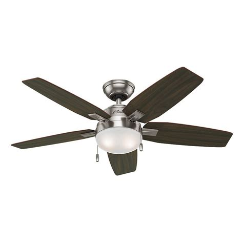 brushed nickel ceiling fans with lights antero 46 in indoor brushed nickel ceiling fan