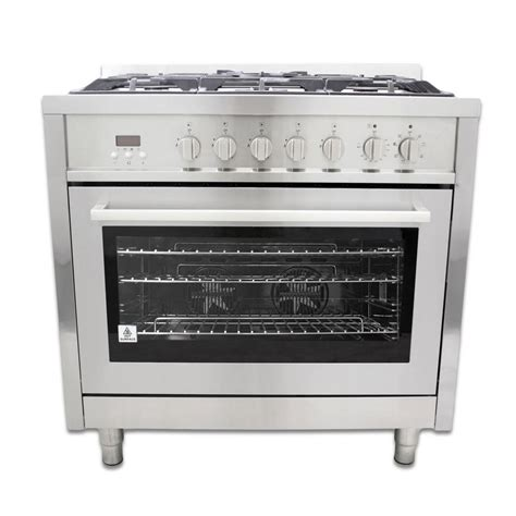 Oven Cosmos cosmo 36 in 3 8 cu ft dual fuel range with convection
