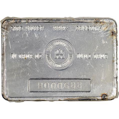 10 oz royal canadian mint silver bar 999 10 oz vintage rcm silver bar royal canadian mint 999