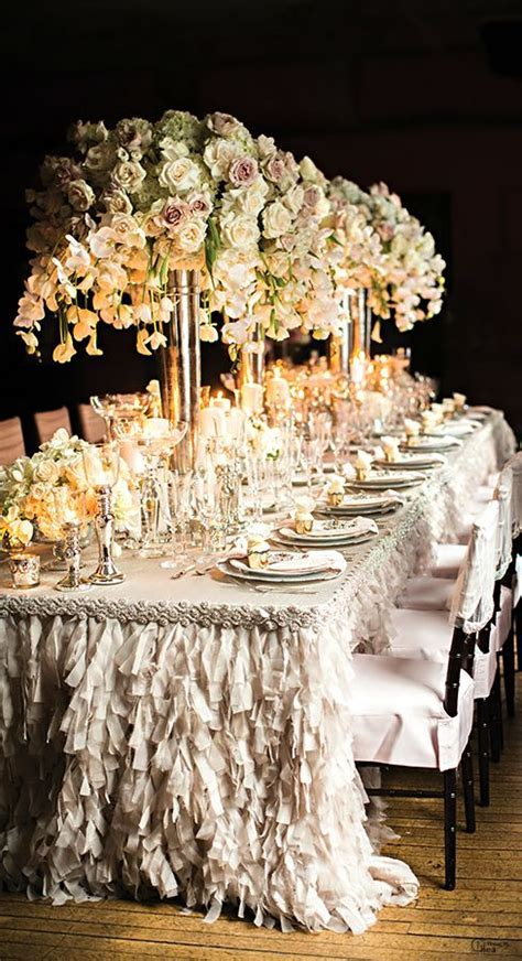 Wedding Table Décor Ideas   Receptions, Tablecloths and