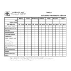 forklift inspection checklist template search results for forklift inspection sheet template