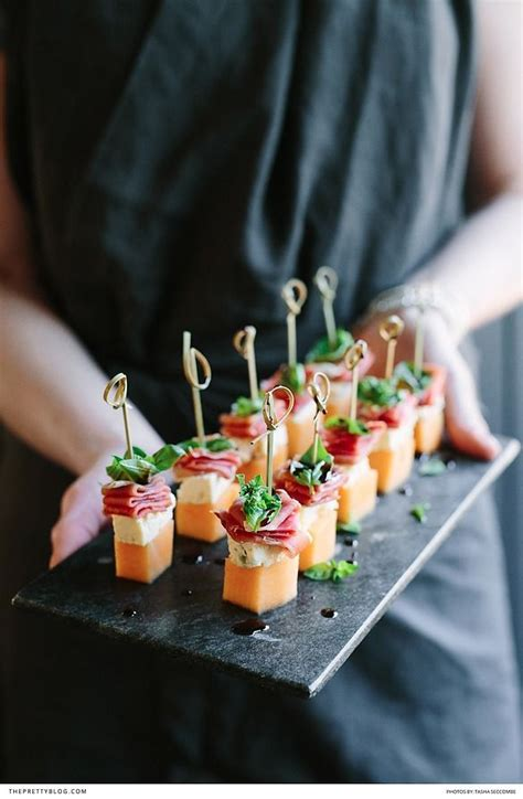 cocktail canapes ideas melon blue cheese prosciutto basil canap 233 s wedding