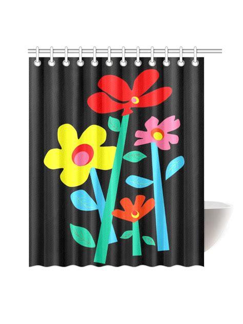 mod shower curtain mod pop black floral shower curtain original design