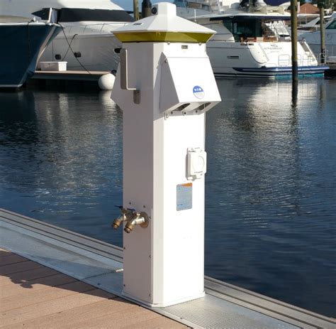 Dock Pedestals Electrical dock boxes unlimited