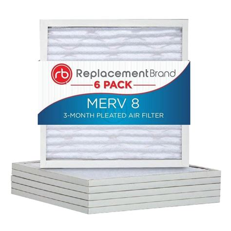 20 in x 20 in x 1 in merv 8 air purifier replacement