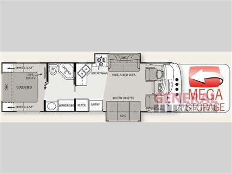 four winds travel trailer floor plans used 2011 four winds rv hurricane 31d motor home class a