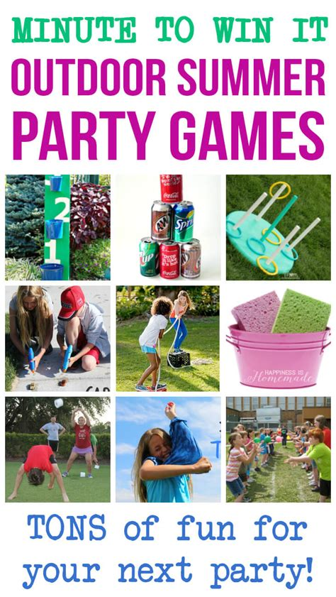 list of backyard games minute to win it outdoor summer party games happiness is