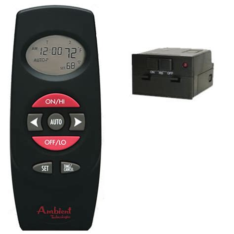 gas log remote thermostat with timer model rct