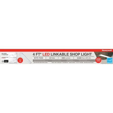 honeywell 4 ft led linkable shop light honeywell sh445505b123 linkable led garage shop light