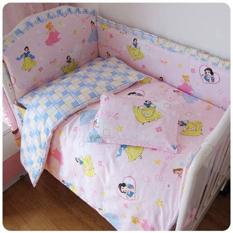 Hot 2015 Princess Baby Crib Bedding Set Bumper Baby Bed Princess Baby Bedding Sets