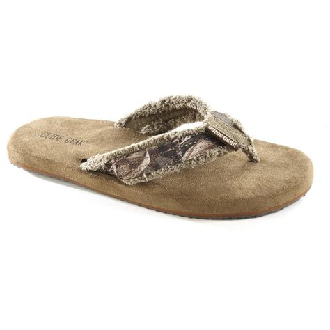 mens camo sandals guide gear s camo memory foam flip flops realtree max