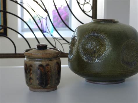mid century american enamel mid century studio pottery